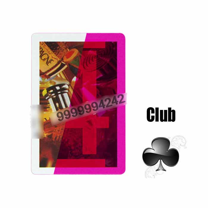 Gambling Laser Invisible Plastic Marked Playing Cards With Glasses