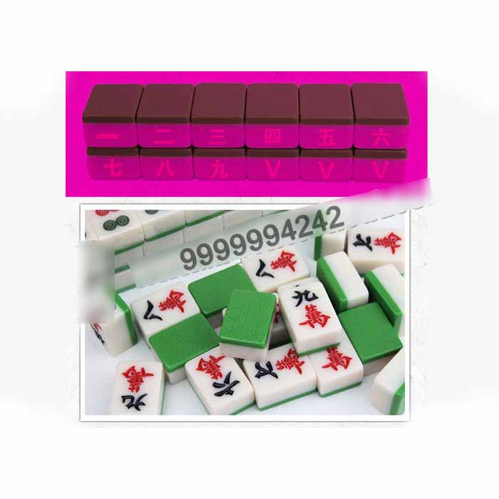Chinese Unique Marked Gambling Mahjong 136 Pieces For Entertainment