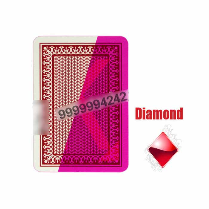 Red Four Jumbo Index Invisible Playing Cards For Contact Lenses