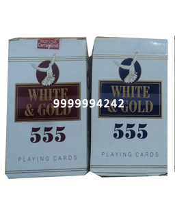 WHITE & GOLD CHEATING PLAYING CARDS