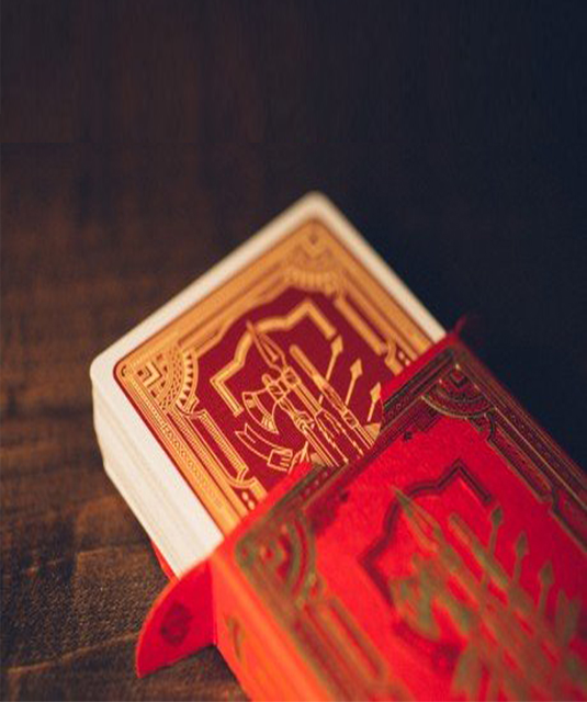 RED & GOLD MARKED PLAYING CARDS