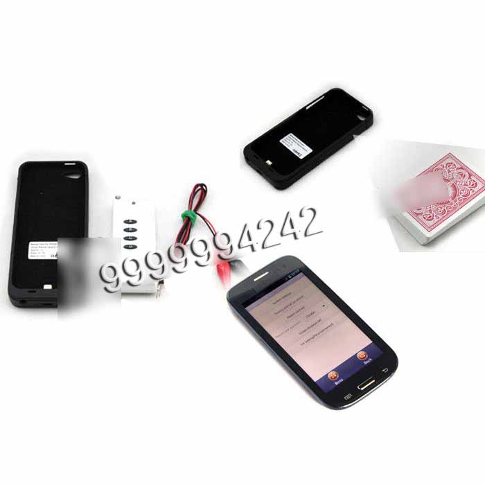 Poker Card Analyzer Black Plastic Iphone Five Charger Case Camera 50-60cm