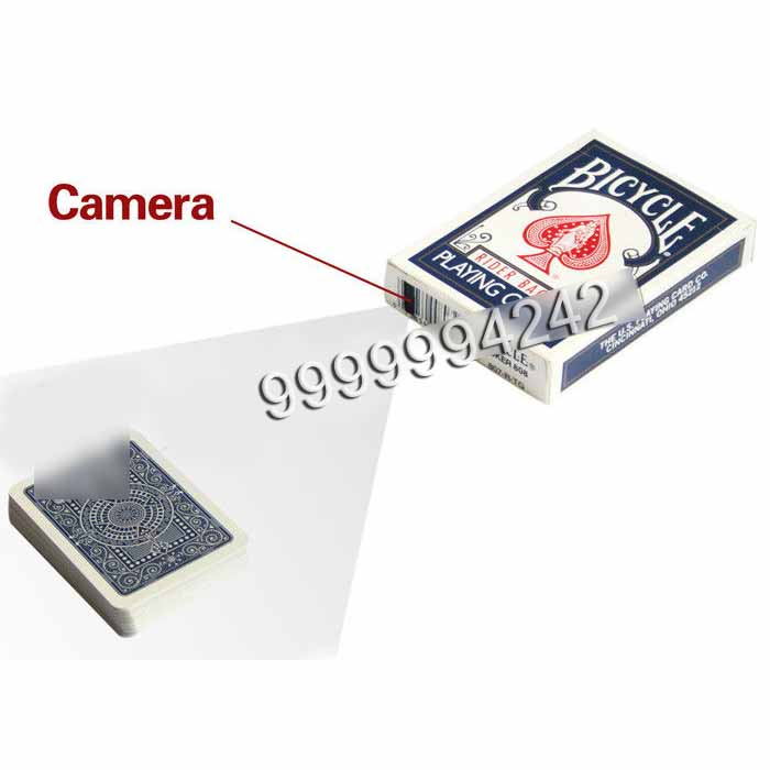 Mini Paper Bicycle Playing Cards Poker Scanner Case Camera For Analyzer