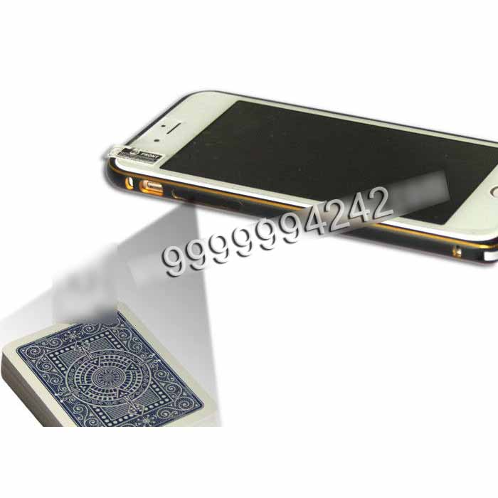 Golden Color Iphone Six Mobile Phone Camera Used In Private Cards Game