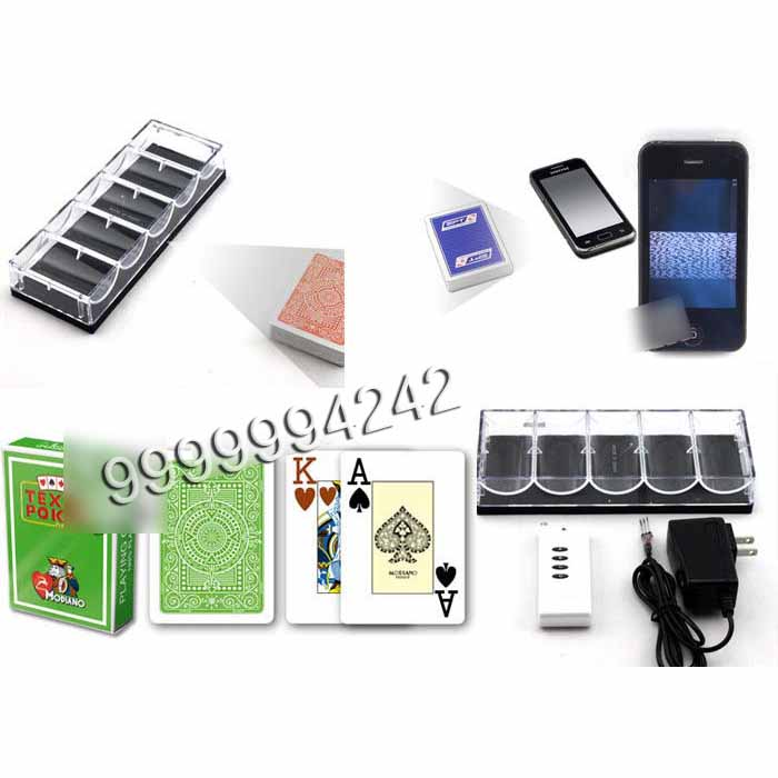 Plastic Transparent Chip Tray Poker Scanner With Black Filter Infrared Camera