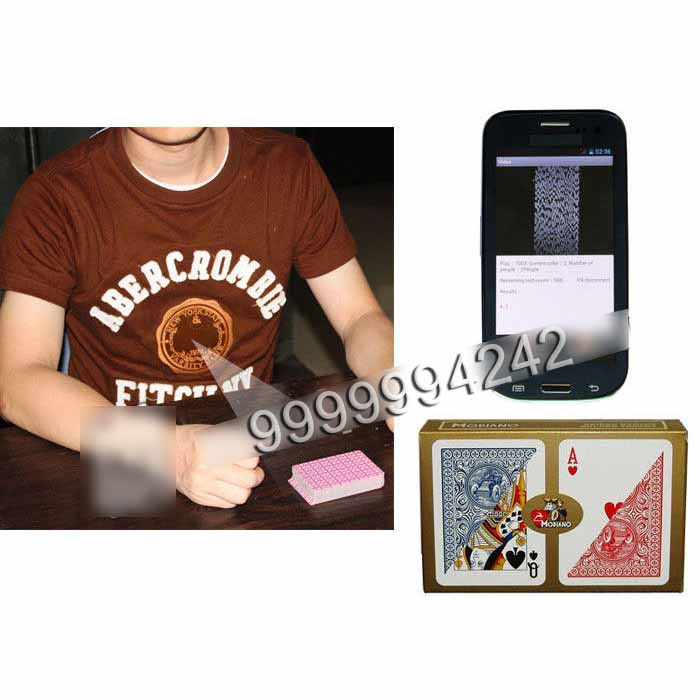 Marked Playing Cards Poker Scanner Orange T-Shirt IR Cameras With Four Lens