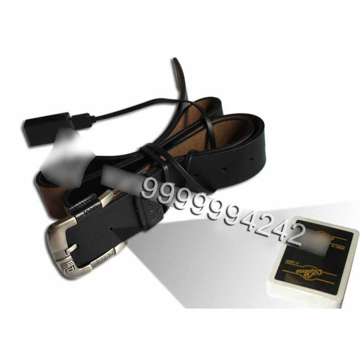 Leather Belt Camera Poker Scanner For Invisible Bar Codes Marked Playing Cards